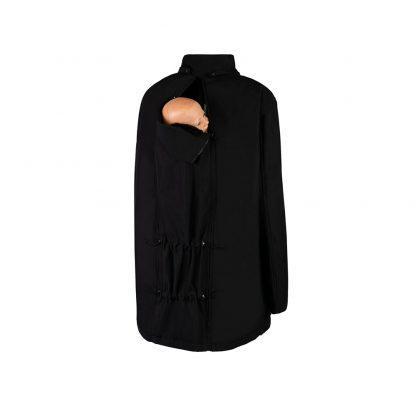Bandicoot Mens Babywearing Jacket Black front
