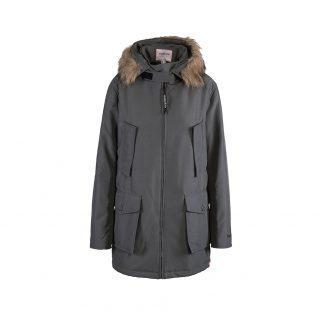 Bandicoot mens babywearing coat grey with collar front
