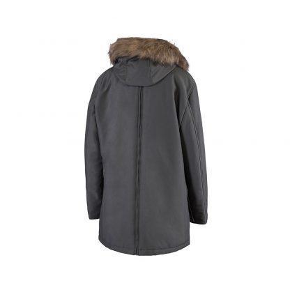 Bandicoot mens babywearing coat grey with collar back