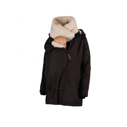 Wombat Wallaby babywearing and maternity jacket in brown and beige