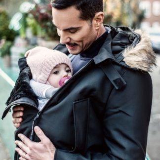 Man's babywearing coat